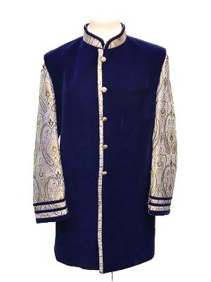Royal Blue Velvet Sherwani