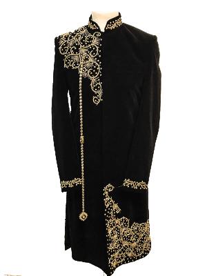 Black Velvet Sherwani
