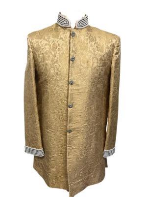 Gold Brocade Sherwani