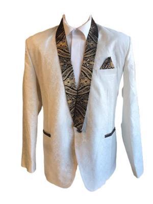 Off White Silk Blazer