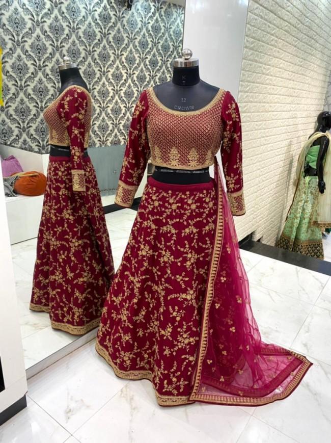 Red Bridal Embroidered Lehenga Choli
