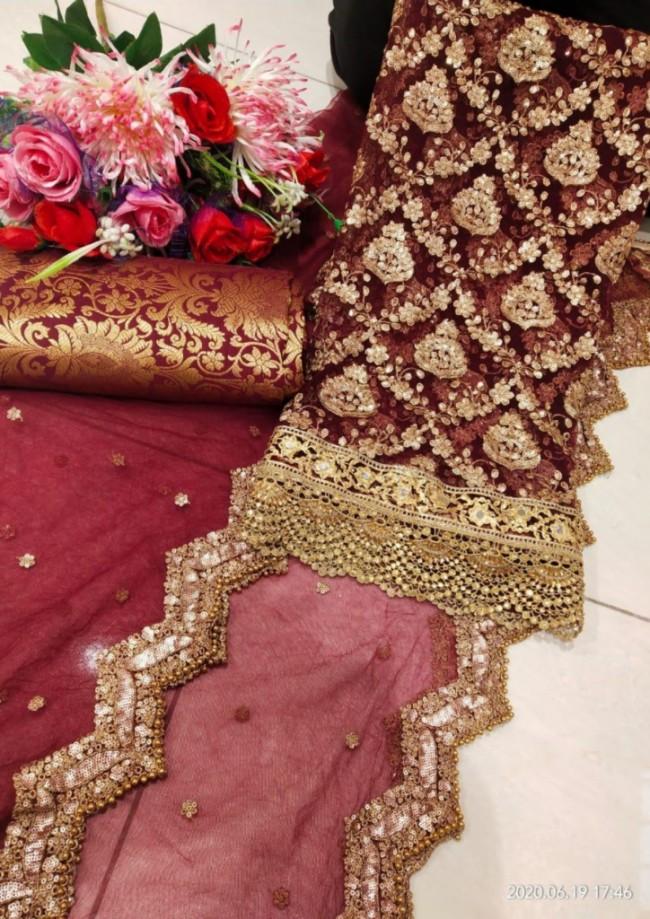 Maroon Punjabi Suit