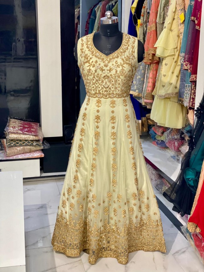 Yellow Gold Maxi Gown