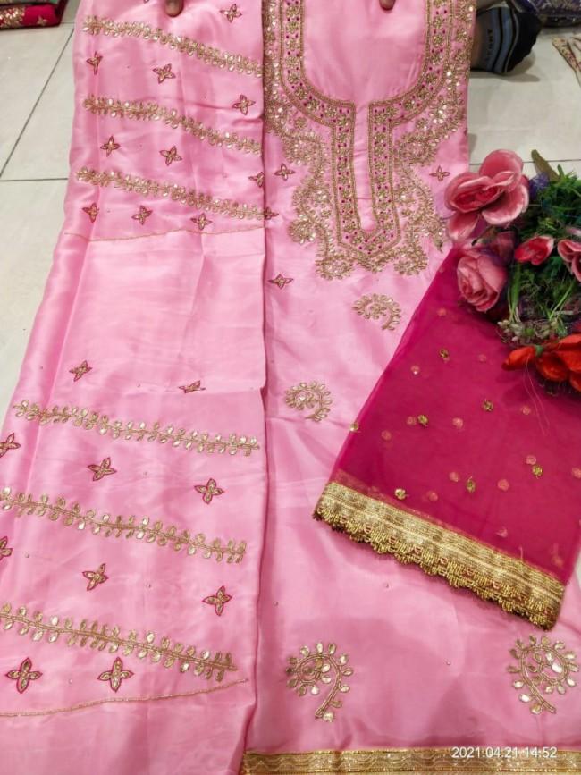 Baby Pink Punjabi Suit
